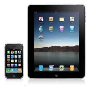 Primer iPhone y iPad uno a lado del otro