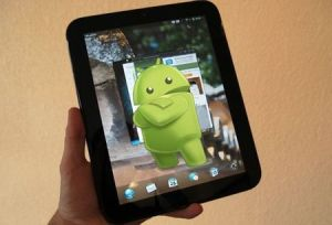 Hp Touchpad con imagen de Android