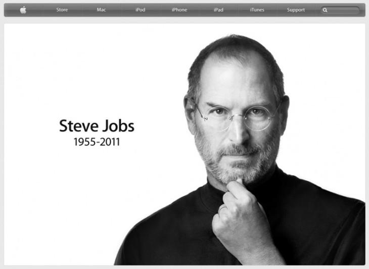 Sitio web de Apple despidiendo a Steve Jobs