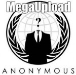 Logo de anonymous haciendo referencia a MegaUpload