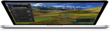 Nueva MacBook Pro casi cerrada
