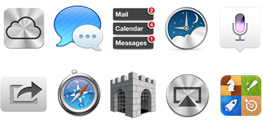 Ocho íconos de servicios introducidos en OS X Lion
