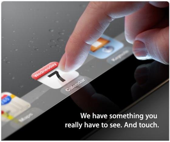 Invitación para el evento del iPad 3