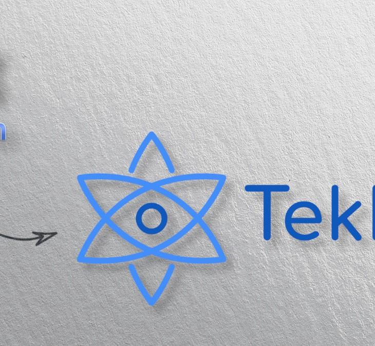 Logo Tekku con fondo de pared y sombra