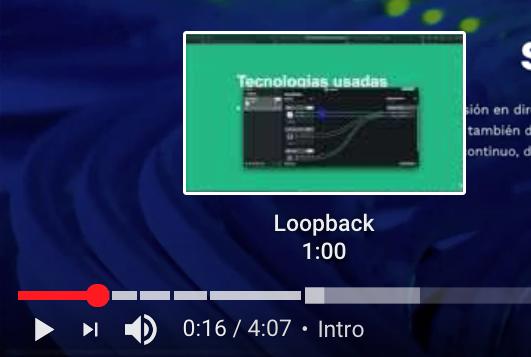 Barra de progreso de YouTube que muestra varios capítulos o secciones