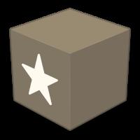 Logo de Reeder 4 - Una caja café con una estrella