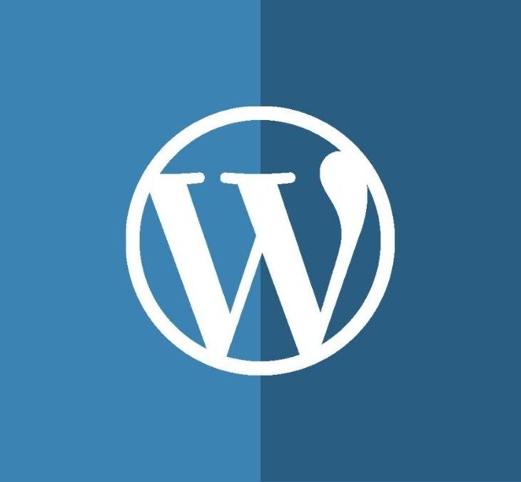 Logo de WordPress con fondo bicolor